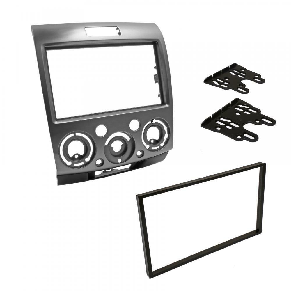 compatible with Ford Silver Double DIN Car CD Radio Plate Stereo Facia Fascia Adaptor Panel