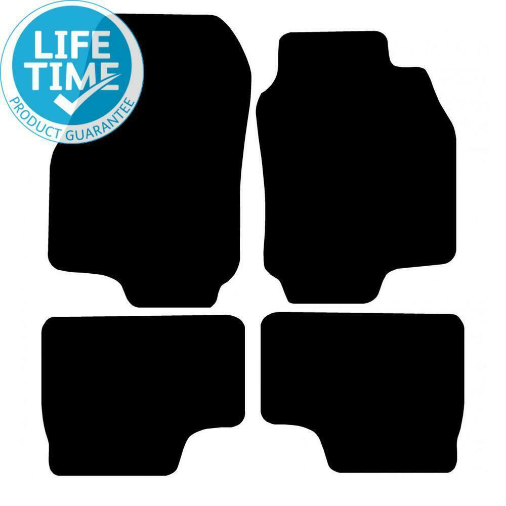 UNIVERSAL CARPET CAR FLOOR MATS BLACK TRIM SET OF 4 05- VAUXHALL ZAFIRA SRI