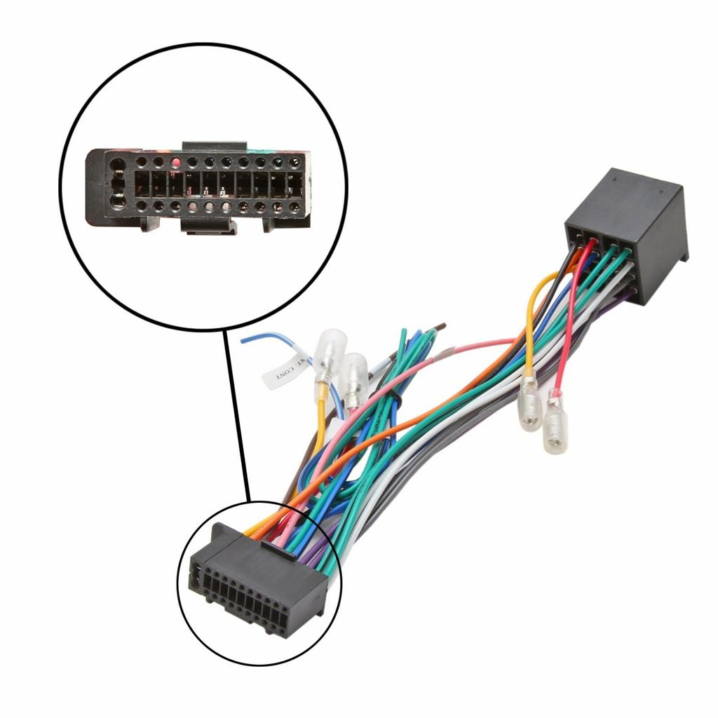 Details about Kenwood 22 Pin Car Stereo Radio ISO Wiring Harness Loom on