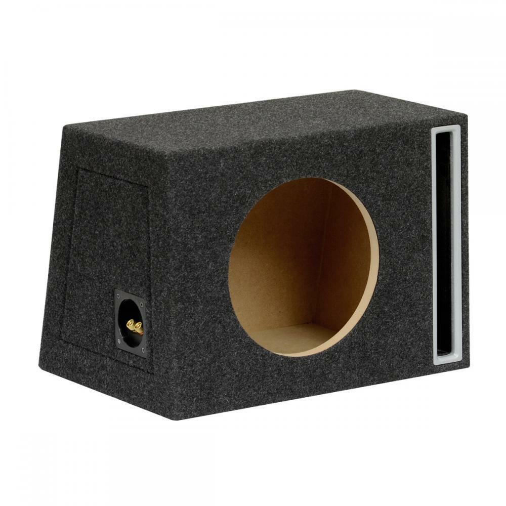 """12 /""""vacía Sub Subwoofer caja de Mdf Negro carpted Boom Box"""