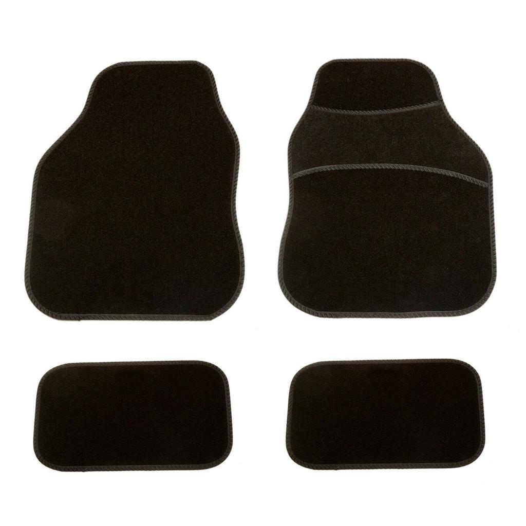 New 4pcs Red Car Floor Mat Set Front Rear Non-Slip Universal Car Carpet Grip