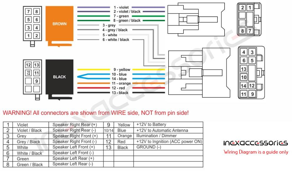 Details about ISO Radio harness / adapter / wiring connector for Toyota on