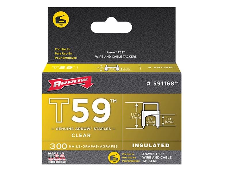 staples box of 1000 Arrow Fastener JT21 T27 6mm 1//4 pouces