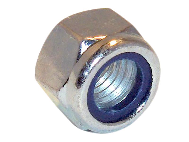 Confezione da 1-M10 CROMATO DADO ESAGONALE IN NYLON INSERTO blocco di fissaggio