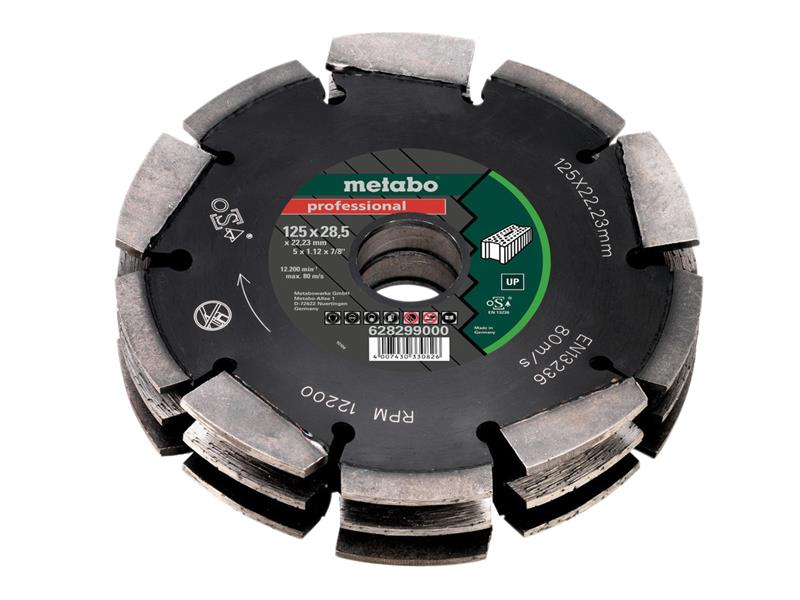 Metabo MPT628299 3 Row Professional UP Wall Chaser Blade 125 x 28.5 x 22.23mm