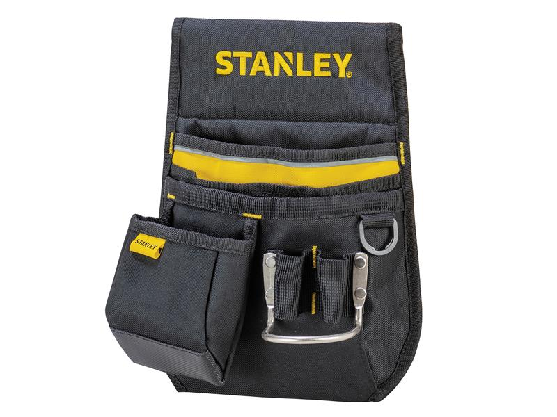 NEW STANLEY Tool//Nail Pocket Work Belt Pouch//Holder With Hammer Loop STA196181
