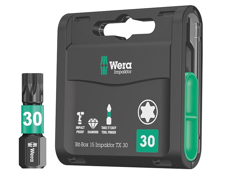 WER057434 Wera Bit-Check 30 Metal Bit Set of 30 PZ PH TX SL Hex