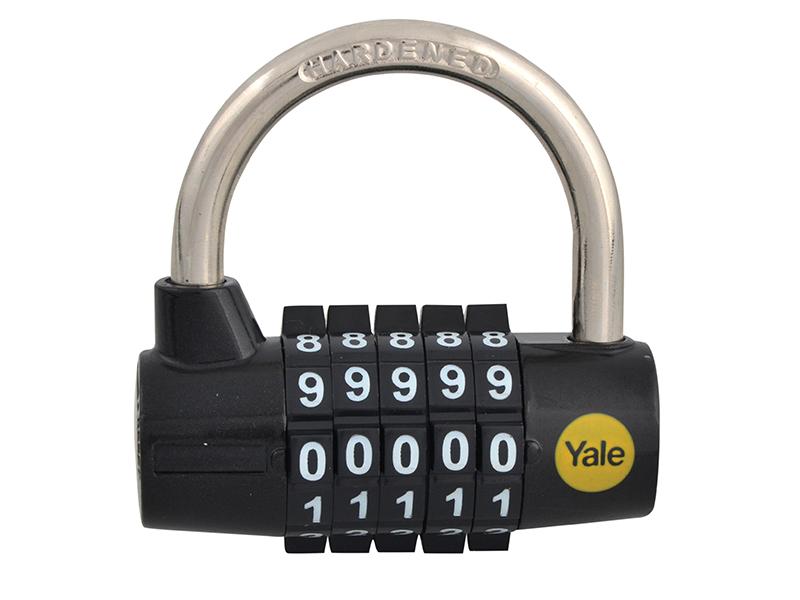 Yale serrures YALY 16048 Y160 48 mm en acier 5 Cadran Combinaison Cadenas
