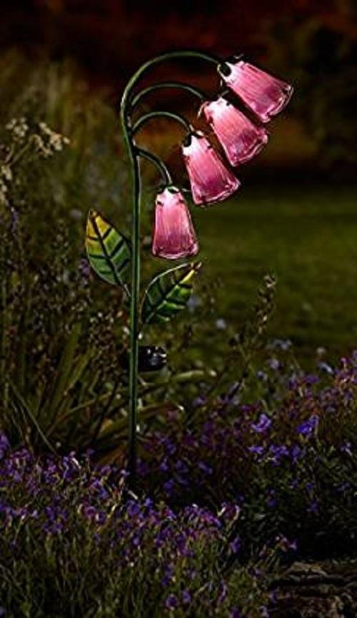 Smart Solar Foxglove Stake Lights Garden Ornament
