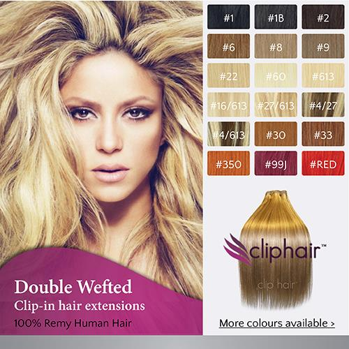 Extra Thick Double Wefted Clip In Remy Human Hair ...