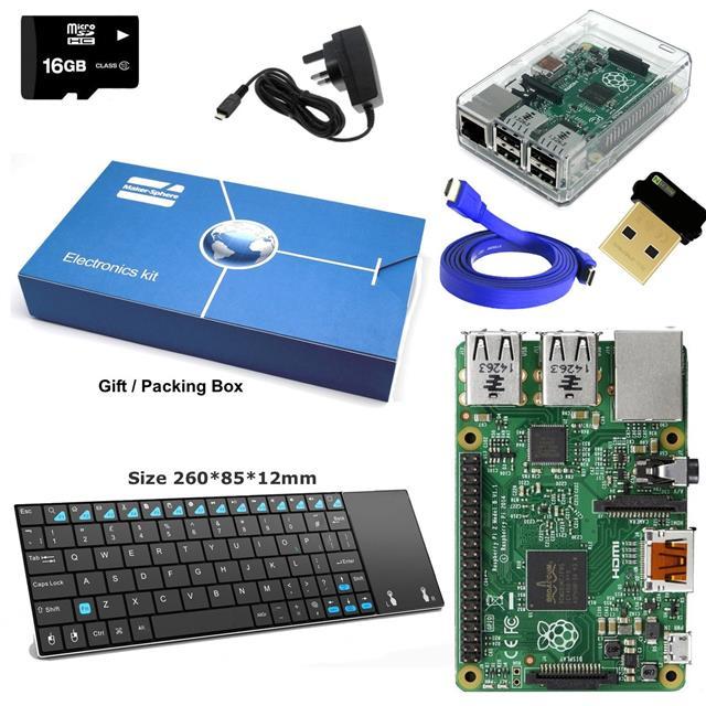 Raspberry Pi 3 16GB Class 10 KODI//XBMC Kit With Blue case