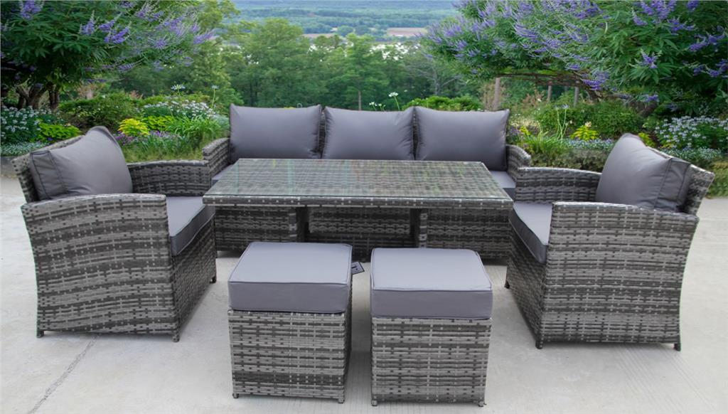 Rattan Wicker Garden Outdoor Cube Table And Chairs