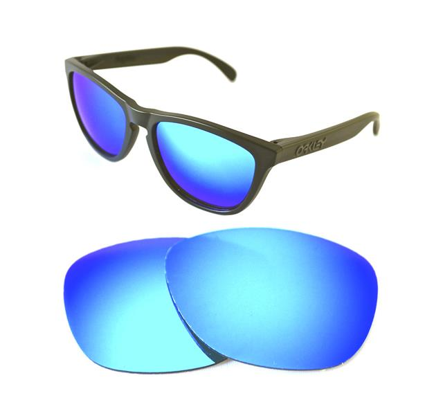 7fb61527b2 Details about NEW POLARIZED CUSTOM ICE BLUE LENS FOR OAKLEY FROGSKINS  SUNGLASSES
