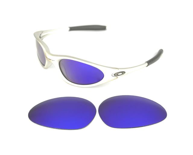 oakley minute blue sunglasses  new polarized custom purple lens for oakley minute 1.0 sunglasses