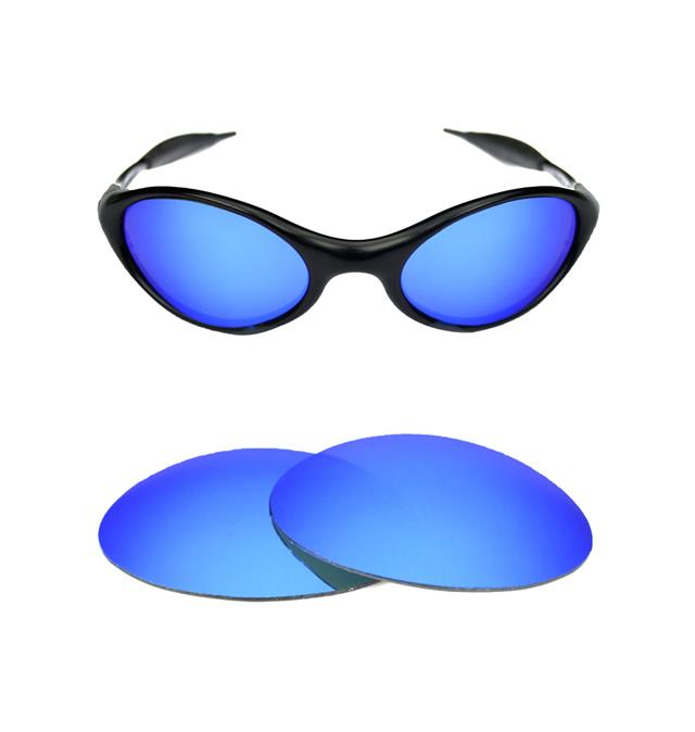 eye jacket oakley 0q38  NEW POLARIZED CUSTOM ICE BLUE LENS FOR OAKLEY EYE JACKET SUNGLASSES