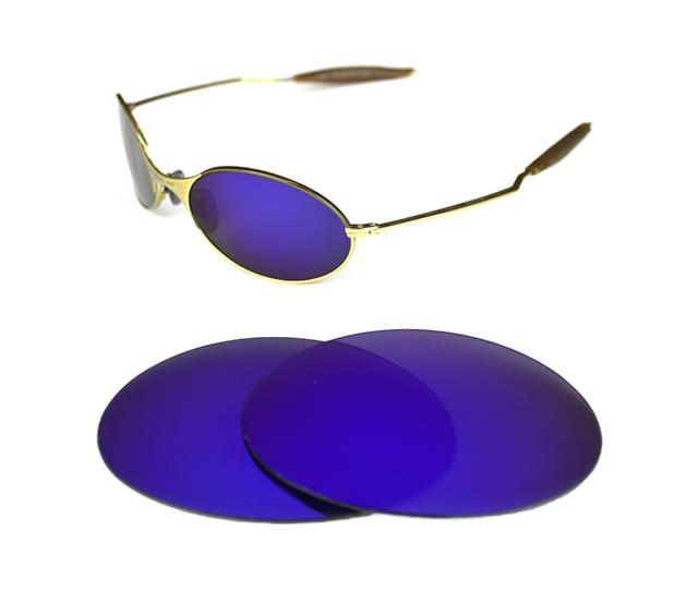 NEW POLARIZED CUSTOM PURPLE LENS FOR OAKLEY E-WIRE 1.0 SUNGLASSES