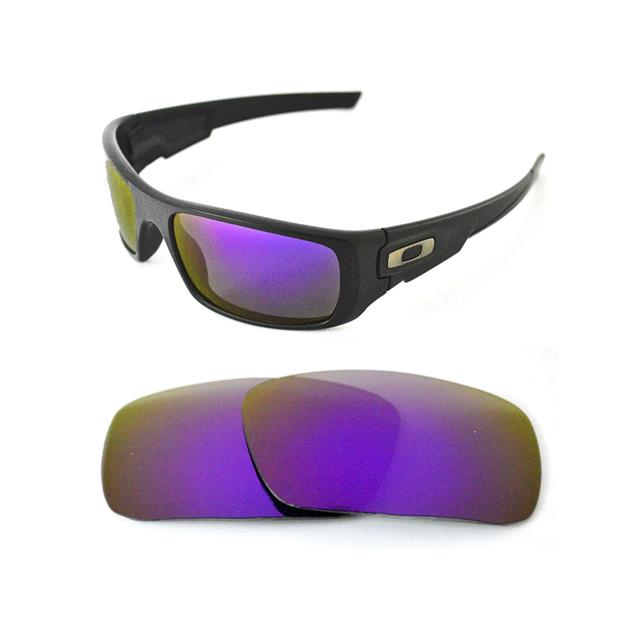 custom oakley goggles ncka  NEW POLARIZED CUSTOM PURPLE LENS FOR OAKLEY CRANKSHAFT SUNGLASSES