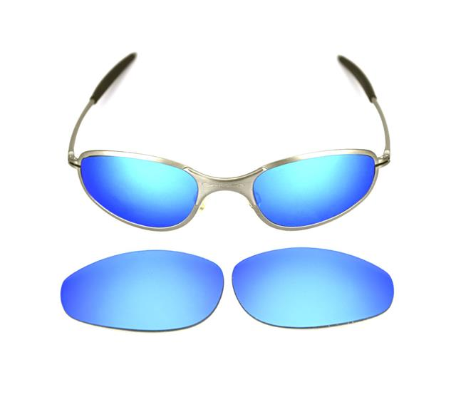 9b303cb6bee NEW POLARIZED CUSTOM ICE BLUE LENS FOR OAKLEY A WIRE THICK SUNGLASSES