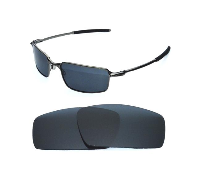 oakley crosshoakley canteen replacement lenses ugti  NEW POLARIZED BLACK REPLACEMENT LENS FOR OAKLEY SQUARE WIRE SUNGLASSES