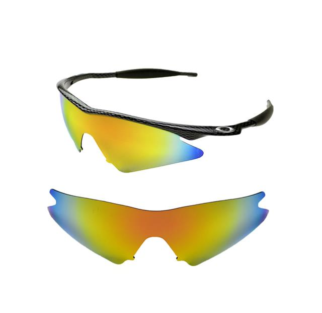 NEW POLARIZED FIRE RED CUSTOM SWEEP LENS FOR OAKLEY M-FRAME ...