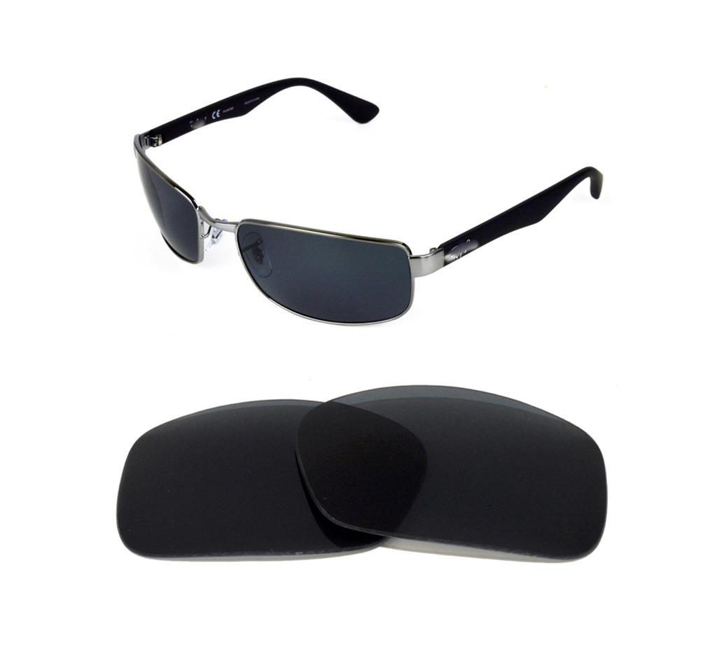 d6f983d03d2 NEW POLARIZED REPLACEMENT BLACK LENS FIT RAY BAN RB3364 62mm SUNGLASSES