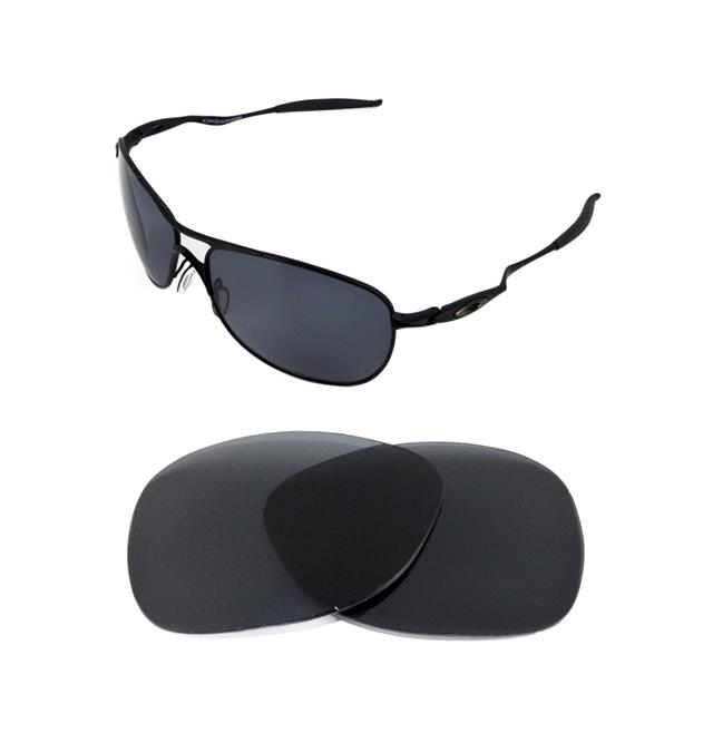 dab3624b552 NEW POLARIZED BLACK REPLACEMENT LENS FOR OAKLEY CROSSHAIR 2012 SUNGLASSES