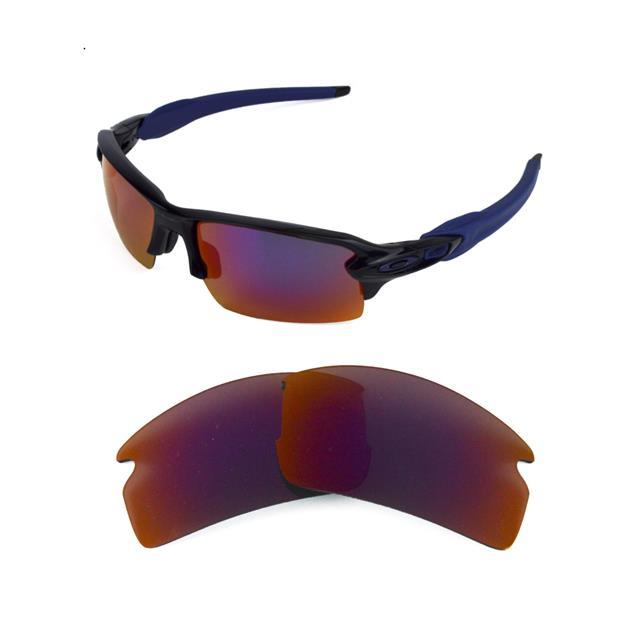 oakley sunglasses flak jacket red lens