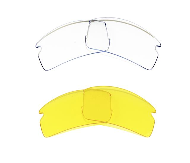 New Replacement Clear Amp Yellow Lens For Oakley Flak Jacket 2