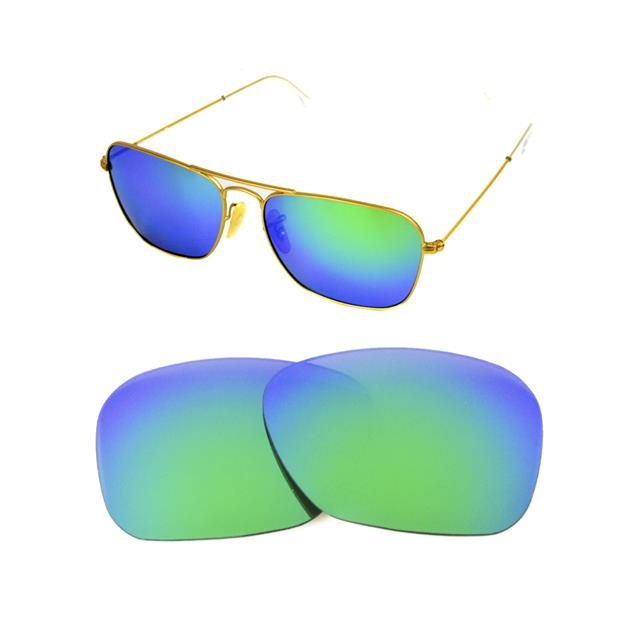 Details about NEW POLARIZED CUSTOM GREEN LENS FIT RAY BAN CARAVAN 3136 55mm  SUNGLASSES 0fbd510f1601