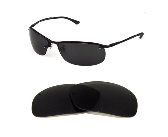 d8032fe3d4 NEW POLARIZED REPLACEMENT BLACK LENS FOR RAY BAN RB3183 63mm SUNGLASSES
