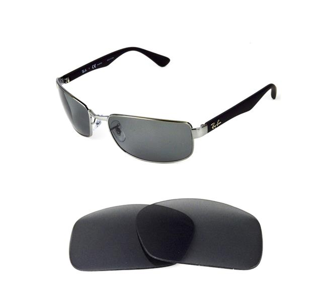 POLARIZED GREY ANTI REFLECTIVE REPLACEMENT LENS FOR RAY BAN 3478 60mm  SUNGLASSES c1bded764197