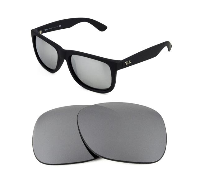 29f6f00a12 NEW POLARIZED REPLACEMENT SILVER ICE LENS FOR RAY BAN 4165 JUSTIN 54mm  SUNGLASSES