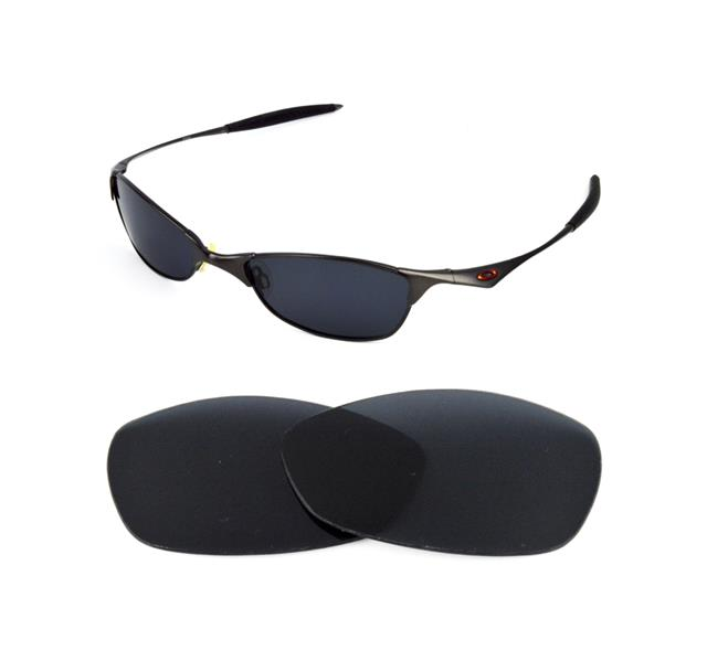 6267a5d0e1 NEW POLARIZED BLACK REPLACEMENT LENS FOR OAKLEY VINTAGE WIRETAP SUNGLASSES