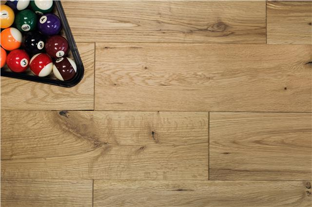 Real Solid Wood Oak Flooring Brushed Oiled 18mm X 150mm Hardwood