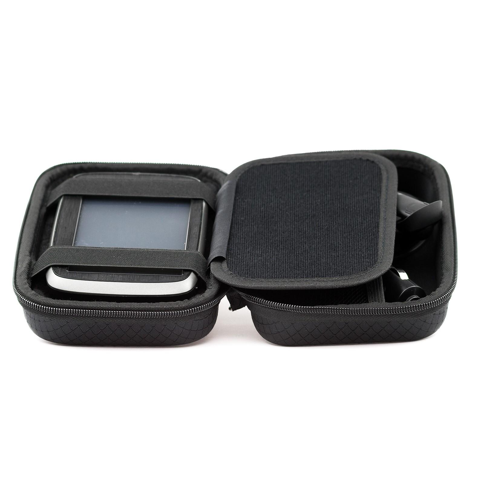 black hard carry case for tomtom go 5200 520 via start 52 53 go professional ebay. Black Bedroom Furniture Sets. Home Design Ideas