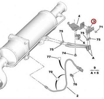 Vauxhall Zafira B Dpf Differential Pressure Sensor 2005 2011 1 7d