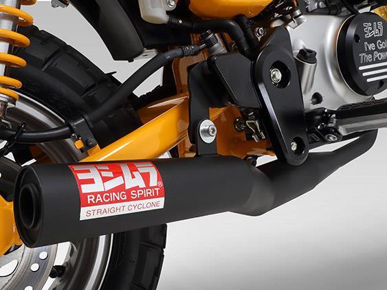 Details About Yoshimura Honda Monkey 125 Straight Cyclone Black Full Exhaust System 2019