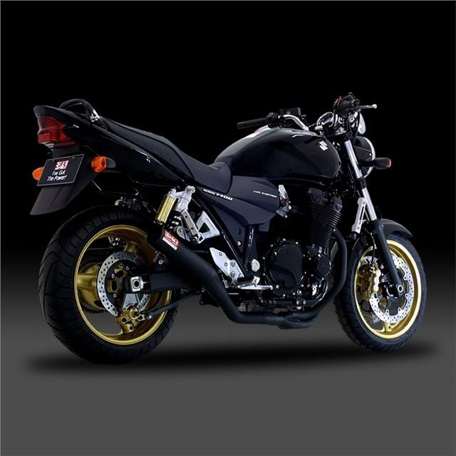 yoshimura black straight cyclone exhaust system suzuki gsx1400 2007 gsx 1400 ebay. Black Bedroom Furniture Sets. Home Design Ideas