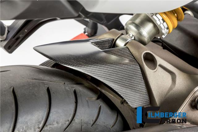 Ilmberger Matt Carbon Fibre Rear Hugger Mud Chain Guard Ducati