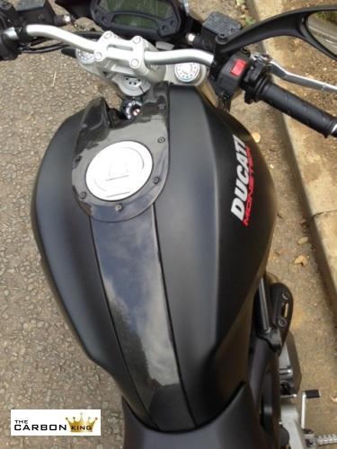 Ducati Monster 696 796 1100 Carbon Lower Tank Guard Plain Gloss