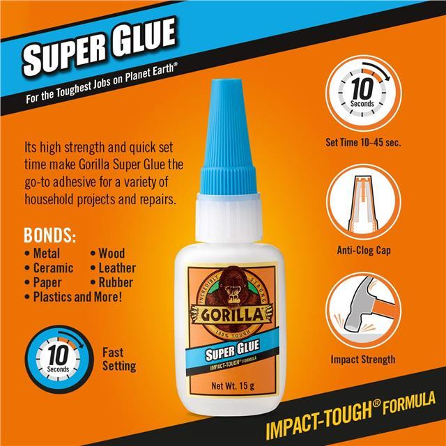 Gorilla-Glue-Multi-Purpose-Super-Glue-Gel-Strong-Bonding-Adhesive miniature 30