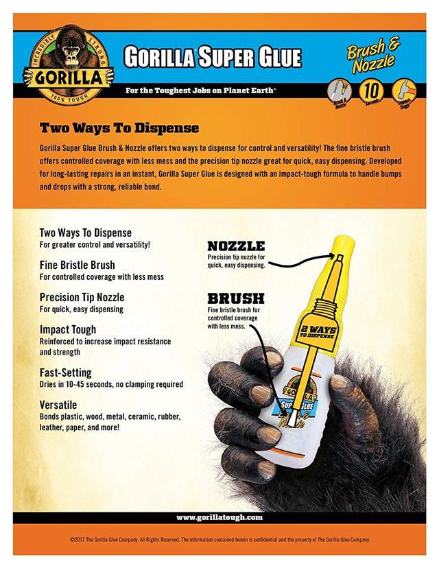 Gorilla-Super-Glue-Precision-Gel-Epoxy-Adhesive-Heavy-Duty-Tape miniature 3
