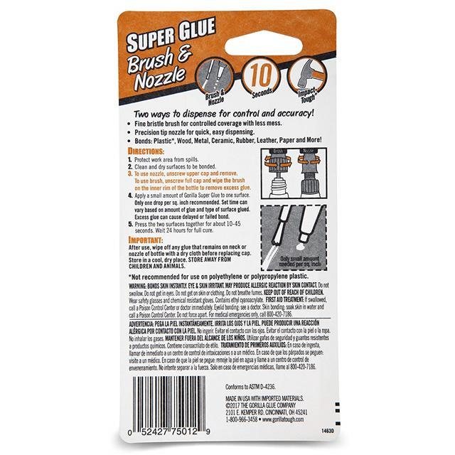 Gorilla-Glue-Multi-Purpose-Super-Glue-Gel-Strong-Bonding-Adhesive miniature 3