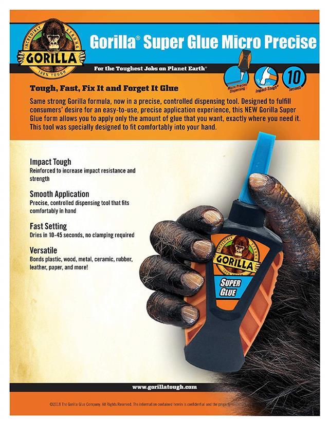 Gorilla-Super-Glue-Precision-Gel-Epoxy-Adhesive-Heavy-Duty-Tape miniature 43