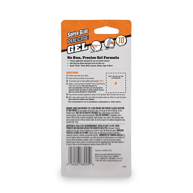 Gorilla-Super-Glue-Precision-Gel-Epoxy-Adhesive-Heavy-Duty-Tape miniature 29
