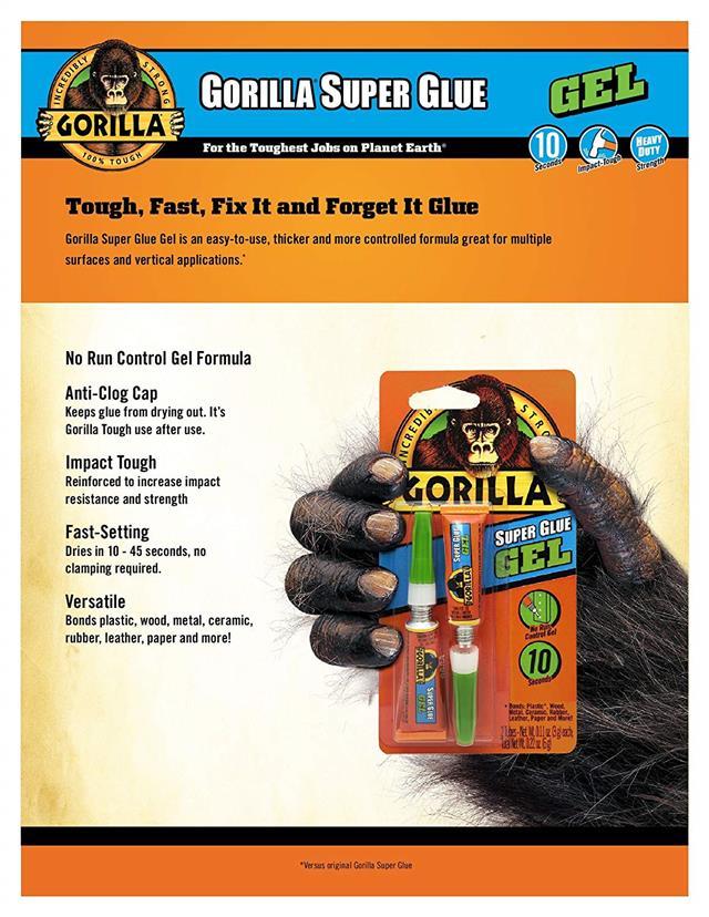 Gorilla-Super-Glue-Precision-Gel-Epoxy-Adhesive-Heavy-Duty-Tape miniature 18
