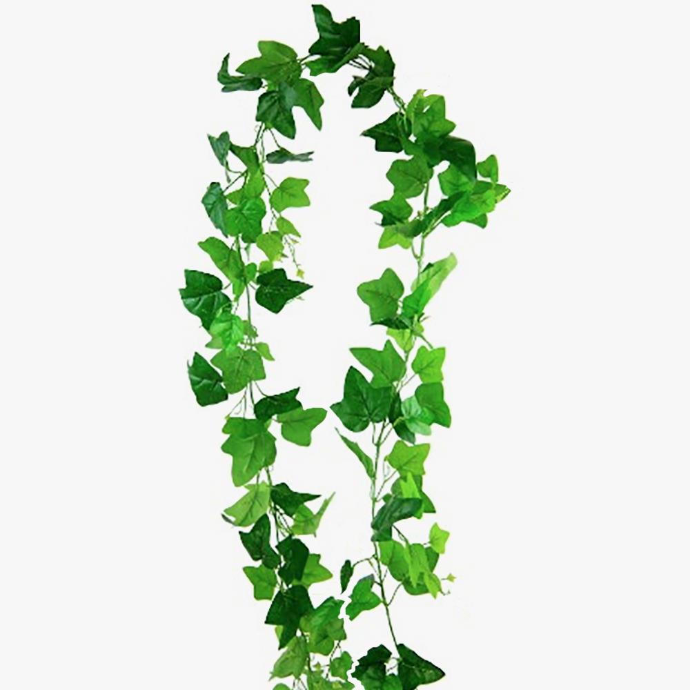 2.5m Artifical Hanging Ivy Vine Plant Silk Leaf Garland Home Wedding Decor UK
