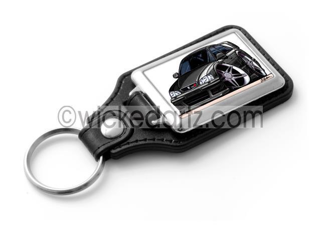 RetroArtz Cartoon Car Honda Accord Type R in Red Premium Metal Key Ring