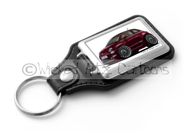 JAGUAR F TYPE Sports Car Koolart Leather and Chrome Keyring
