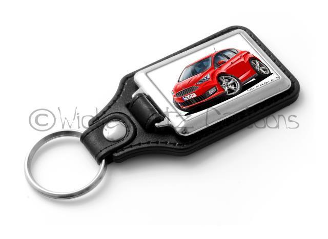 Koolart Cartoon Car Ford C Max Leather and Chrome Keyring
